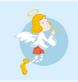 cute cartoon angel vector image