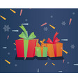 gift boxes with ribbon background vector image
