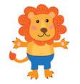 cute cartoon lion vector image