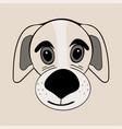 puppy cute funny cartoon dog head vector image