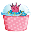 A disposable cupcake container vector image vector image