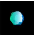 abstract head hair style hexagon shape logo vector image