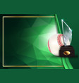 baseball certificate diploma with glass trophy vector image vector image