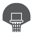 basketball hoop glyph icon game and sport vector image vector image
