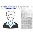 blonde lady icon with bonus vector image vector image