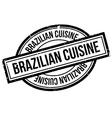 Brazilian Cuisine rubber stamp vector image