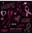 Breast Cancer Awareness Sketch vector image vector image