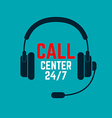 Call center icon vector image vector image