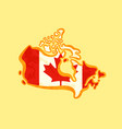 canada - map colored with canadian flag vector image