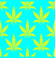 cannabis leaves bright seamless pattern vector image vector image