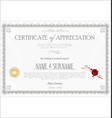 certificate or diploma retro vintage template 04 vector image vector image