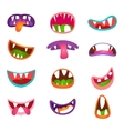 Cute animal face expressions and emotions Funny vector image vector image