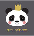 cute panda princess vector image