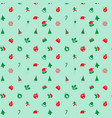 cute retro christmas background vector image vector image