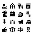 democracy icon vector image vector image