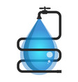 drop of water and water supply vector image