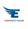 e wings logo vector image