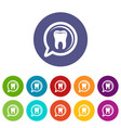 explore tooth icon simple style vector image vector image