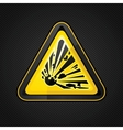 Explosive warning sign vector image