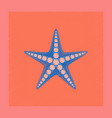 flat shading style tropical starfish vector image vector image