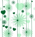 Floral romantic seamless background vector image