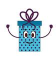 gift box present kawaii character vector image vector image