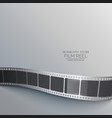 gray background with film strip vector image vector image