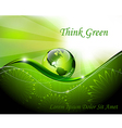 Green abstract fantasy background vector image vector image