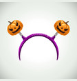 hairband with pumpkins head band decor vector image vector image