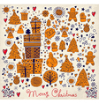 Hand doodle christmas elements vector image vector image