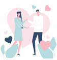 happy couple - flat design style colorful vector image vector image