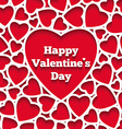 Happy Valentines Day greeting card hearts on the