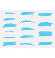 highlighter brush set vector image vector image