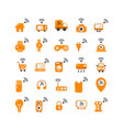 internet things flat icon set vector image
