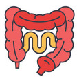 intestines concept line icon editable vector image vector image