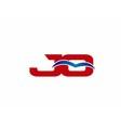 JQ Logo Graphic Branding Letter Element vector image vector image