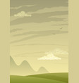 landscape background vertical vector image
