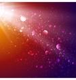 Lights in cosmos background bokeh effect vector image vector image