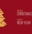 merry christmas and happy new year red greeting vector image