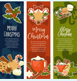 merry christmas and happy new year symbolic images vector image vector image