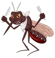 Mosquito cartoon ready for eat vector image vector image