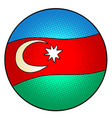 national flag azerbaijan vector image vector image