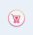order shopping cart icon vector image