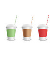paper coffee cup vector image vector image