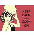pop art woman cook vector image
