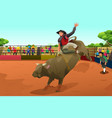 rodeo rider in an arena vector image