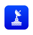 satellite dish icon digital blue vector image vector image
