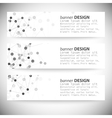 Set of horizontal banners Molecule structure gray vector image vector image
