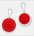 set red sale tags vector image vector image
