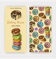 sketch donut vintage card menu vector image vector image
